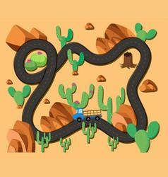 Roadmap in the desert vector