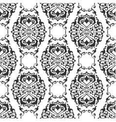 Seamless abstract floral geometrical ornament vector