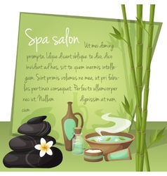 Spa salon background vector