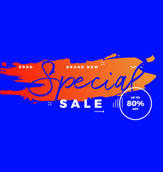 special sale offer banner brush vector image vector image