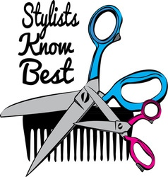 Stylists Know Best vector image vector image