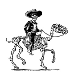 The rider in the mexican man national costumes vector