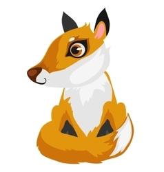 Toy cartoon fox isolated animal vector image vector image