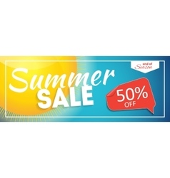 Summer sale end of season banner business vector