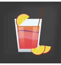 Cocktail drink glass image vector