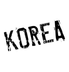 Korea stamp rubber grunge vector