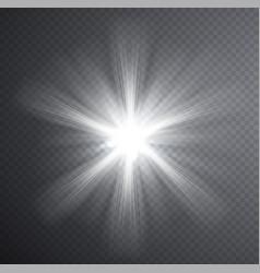 White light beam transparent light effect vector