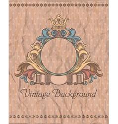 emblem on the vintage background vector image