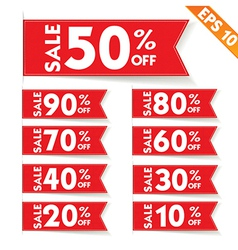 Sale percent sticker price tag - - eps10 vector