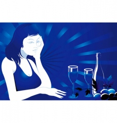 Seductive evening vector