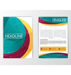 Abstract curve brochure flyer design vector