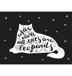 Lettering composition in cat vector