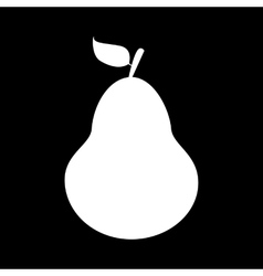 Fruit pear isolated icon vector