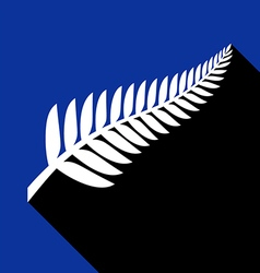 Silver fern with shadow vector image