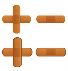 Band aid plaster strip icon vector