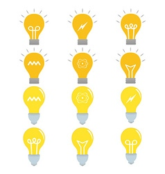 Set of light bulb icon set vector