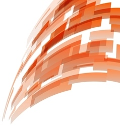 Abstract orange rectangles technology background vector image vector image