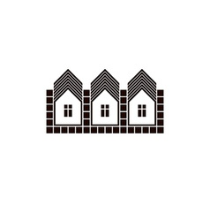 Abstract simple country houses homes image vector