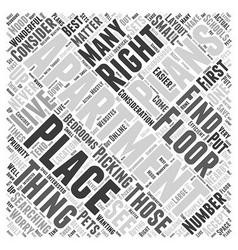 apartment floor plans Word Cloud Concept vector image vector image