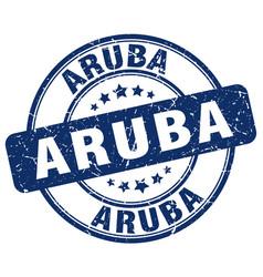 Aruba blue grunge round vintage rubber stamp vector