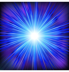 Blue Light rays with star vector image