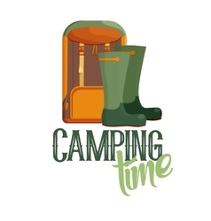 Camping time logo vector