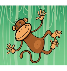 cartoon of funny monkey vector image vector image