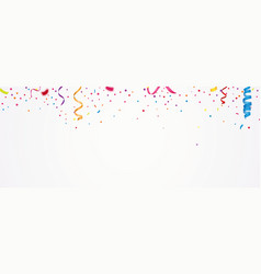 colorful confetti banner vector image