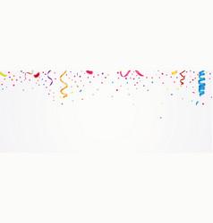 Colorful confetti banner vector