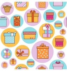 Colorful Gift Boxes Background Pattern vector image vector image
