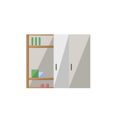cupboard isolated icon in flat style vector image