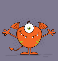 cute monster character with welcoming open arms vector image vector image