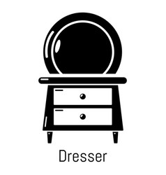 Dresser icon simple black style vector