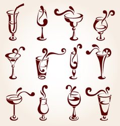 drink design elements vector image vector image