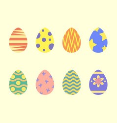 Easter eggs flat style vector