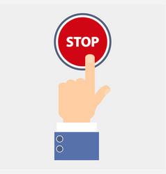 Hand push stop vector
