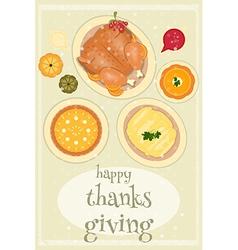 Happy thanksgiving food vector