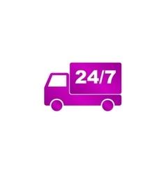 Home delivery web icon vector