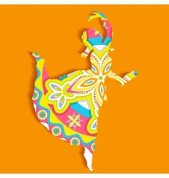 Indian classical Dancer vector image vector image