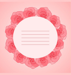 invitation cards with roses vector image vector image