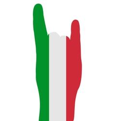 Italian finger signals vector