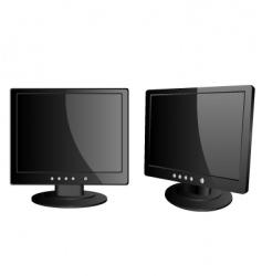 lcd monitors vector image vector image