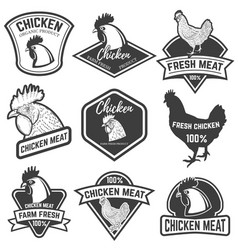 set of chicken meat labels design elements for vector image vector image
