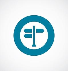 signpost icon bold blue circle border vector image