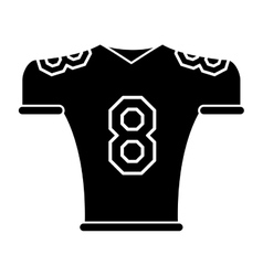 silhouette american football jersey uniform tshirt vector image