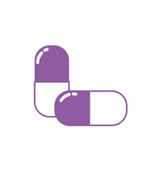 Silhouette pharmaceutical pill medicine to vector
