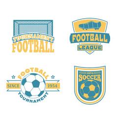 soccer badge set vector image vector image