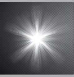 white light beam transparent light effect vector image vector image