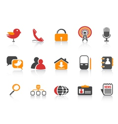 Simple social media icons vector