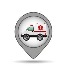 Ambulance car icon map pointer vector